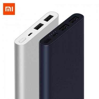Original Xiaomi PLM13ZM 10000mAh Power Bank 3 18W wo-way QC3.0 Quick Charge for Mobile Phone - SILVER