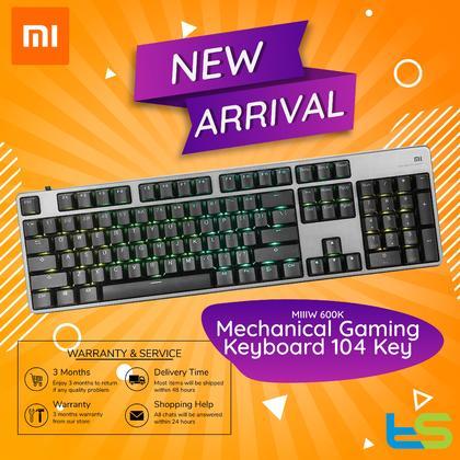 MIIIW 600K Mechanical Gaming Keyboard 104 Key Kailh Red Switch