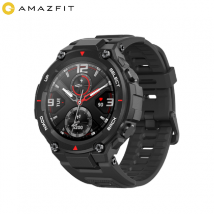 Amazfit T-Rex A1919 Outdoor Smart Watch 1.3 Inch AMOLED Color Screen 20 Days Battery Life 5 ATM Waterproof 14 Sports Modes 12 Military Certifications Dual GPS System Smartwatch