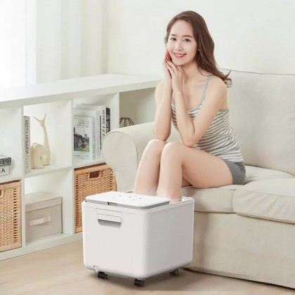 HITH X2 Smart Foot Spa Bath Massager Household Electric Massage Vibrative Foot Tub - White